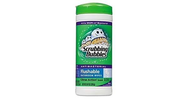 Burbujas de limpieza antibacteriano toallitas de baño de Flushable: Amazon.es: Hogar