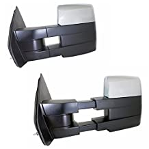 JDMSPEED New 07-14 Ford F150 Pickup Chrome Towing Power Heated Pair Tow Mirrors Signal Puddle