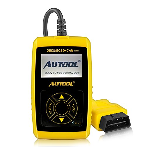 Car Engine Fault Code Reader Autool CS320 OBDII Car Vehicle Code Scanner Auto Diagnostic Scan Tool,Read and Clear Error Codes for 1996 or later US, European and Asian OBD2 Protocol Vehicle