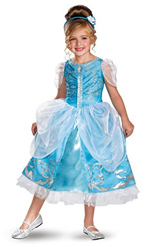 [Disguise Disney's Cinderella Sparkle Deluxe Girls Costume, 3T-4T] (Cinderella Costumes For Girl)