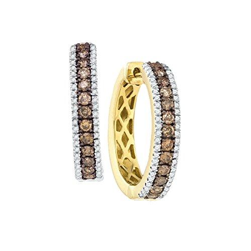 1 Carat COGNAC DIAMOND FASHION HOOPS by Jawa Fashion