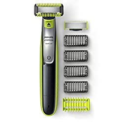 Philips Norelco OneBlade Face + Body hybrid electric trimmer and shaver, QP2630/70