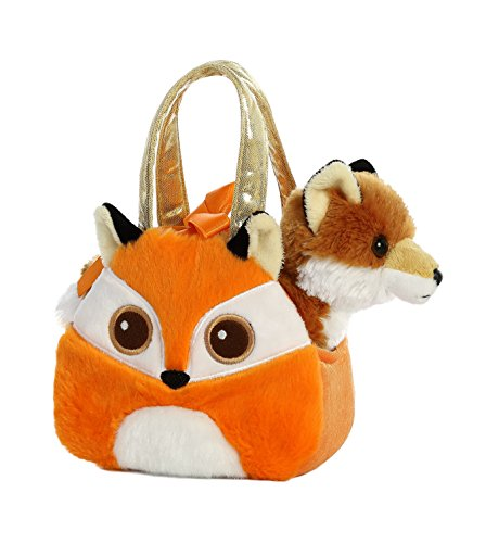 [Aurora World Fancy Pals Pet Carrier Bright Eyes Fox Plush] (Plush 7
