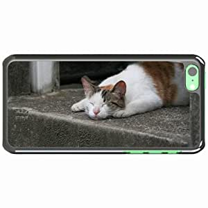 iPhone 5C Black Hardshell Case lying spotted Desin Images Protector Back Cover