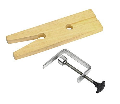Wooden Bench Pin with V-Slot and Clamp Jewelry Making Tool PMC Supplies FORM-0044