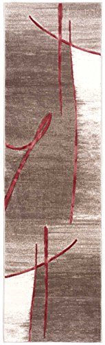 Nourison Soho (SOH04) Beige Runner Area Rug, 2-Feet 2-Inches by 7-Feet 6-Inches (2'2