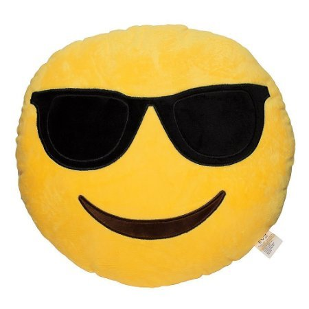 Cojín Gafas de sol Emoji Cojín (Smiley Cool Gafas: Amazon.es ...