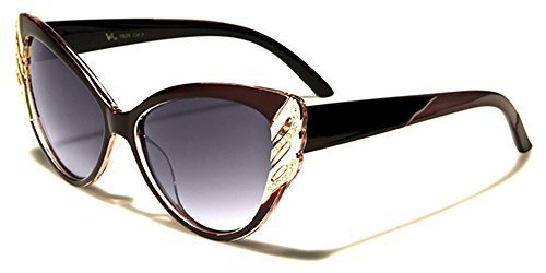 VG Designer chat doeil mode femme lunettes de soleil / SPORT AU VOLANT / COMPLET UV400 Protection / GRATUIT vibrant Hutt microfibre poche inclus rouge/rose bras