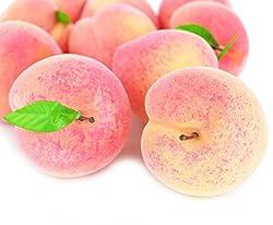 SAMYO Fake Fruit Home House Kitchen Party Decoration Simulation Artificial Lifelike Peach 10pcs Set