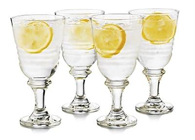 Libbey 4 Piece Monclova Goblet Glass Set, One Size, Clear