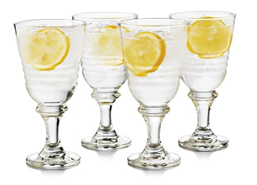 Libbey 4 Piece Monclova Goblet Glass Set, One Size, Clear
