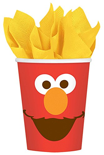 Amscan Sesame Street Elmo Turns One Cups, 9 oz., Birthday One Size, Multicolor