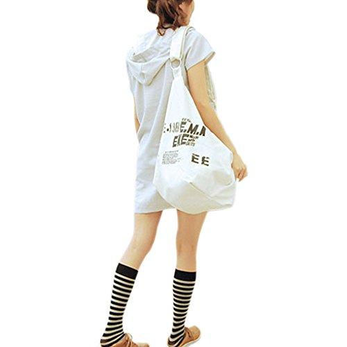 Holiday Crossbody Shopper Girls Bag Across Letter New Casual Sling Travel White Bag Large Ladies Fashion Handbags Shoulder Canvas Bag Women Bag Beach Messenger Shoulder JIAHG Bags Swimming xI8aHT