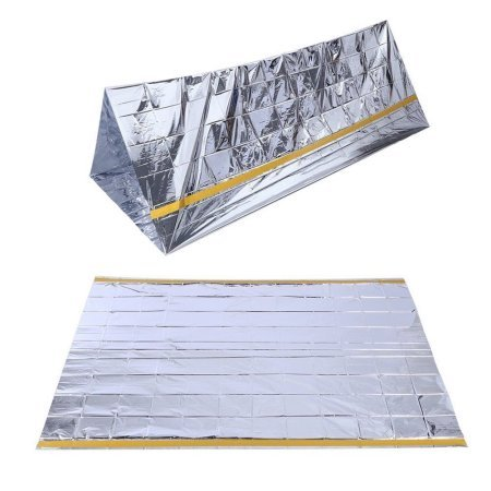 SharpSurvival Emergency Survival Shelter Tent | 2 Person Mylar Thermal Shelter | 8 X 5 All Weather Tube Tent | Reflective Material Conserves Heat | Lightweight | Waterproof | Best Survival Gear