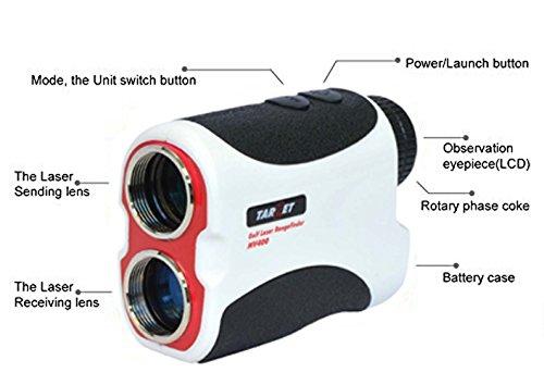 Target 400M White Portable Golf Laser Rangefinder