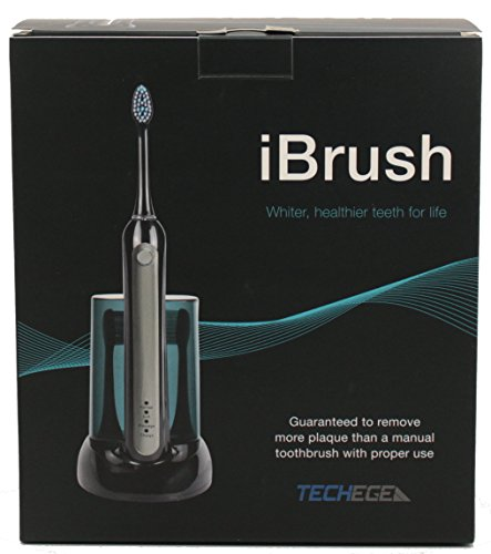 iBrush Electric Toothbrush - Sonic Wave Electric Rechargeable Toothbrush with UV Sanitizer and 3 Extra Brush Heads and Built In Brushing Timer