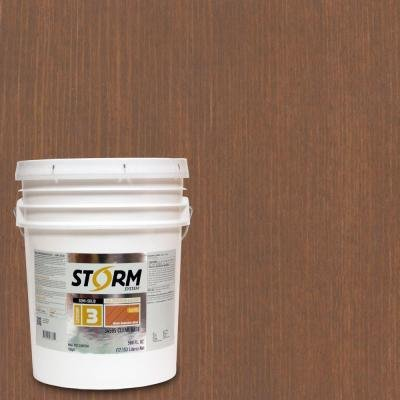 Storm System Category 3 5-gal. Butternut Exterior Semi-Solid Dual Dispersion Wood Finish by Storm System