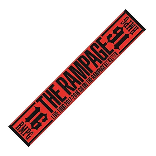 GO ON THE RAMPAGE THE FINAL マフラータオル 赤   B07H4GPQ9F