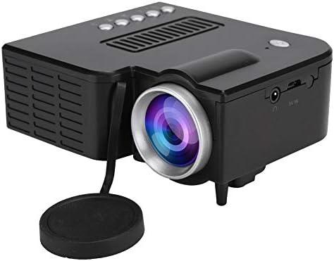 VBESTLIFE Mini HD beamer draagbare LCD 1080P miniatuurprojector UC28c thuisbioscoop mediaspeler ventilatoraluminium koelerwervelluchtkanaal zwart