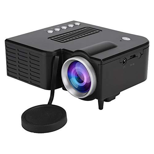 VBESTLIFE Mini HD beamer, draagbare LCD 1080P miniatuurprojector UC28c thuisbioscoop mediaspeler, ventilator + aluminium…