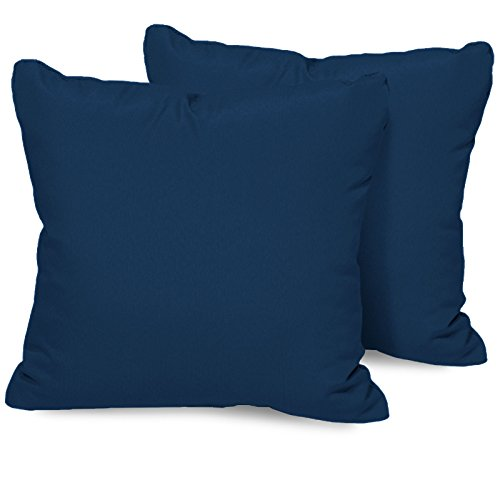 TK Classics PILLOW-NAVY-S-2x Outdoor Square Throw Pillows, Set of 2, Navy (Imported Outdoor Furniture)