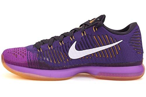 Nike Kobe X Elite Lage Heren Basketbalschoenen 747212 Sneakers Schoenen Rechter Paars / Wit-levendig Paars
