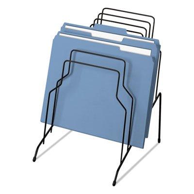 Fellowes Wire Step File Organizer, 8 Tier, Black (Desktop Sorting Racks)