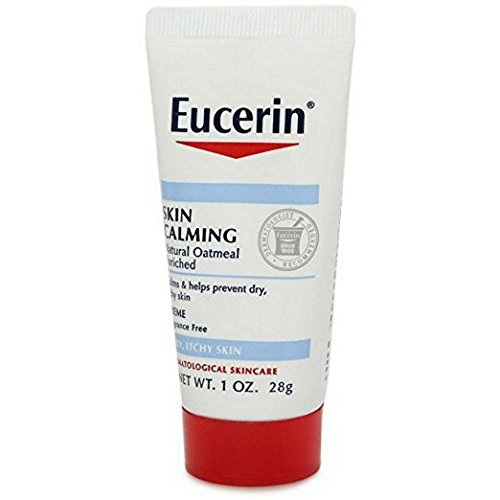 Eucerin Skin Calming Daily Moisturizing Creme 1 oz (Pack of 3)