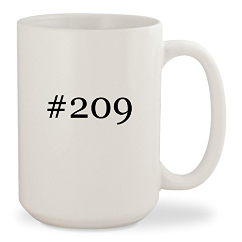 #209 - White Hashtag 15oz Ceramic Coffee Mug Cup