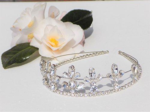 Preciosa Clear Crystal Silver Wedding Tiara by JuliannaLockett