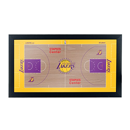 Trademark Gameroom Los Angeles Lakers Official NBA Court Framed Plaque