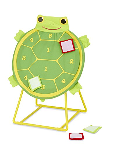 Melissa & Doug Sunny Patch Tootle Turtle Target Toss Game With 4 Self-Stick Bean (Tootle Turtle)