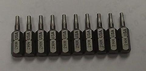 Power Tools Bosch 2mm Allen Insert Bits 1/4