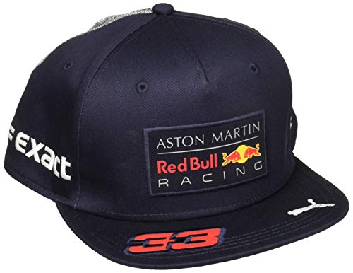 Red Bull Racing Hat - Red Bull Formula 1 Racing 2018 Aston Martin Max Verstappen Flatbrim Team Hat