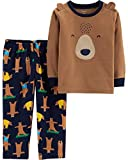 Carter's Boys' 2-Piece Cotton and Fleece Pajamas (Brown/Bear, 5T)