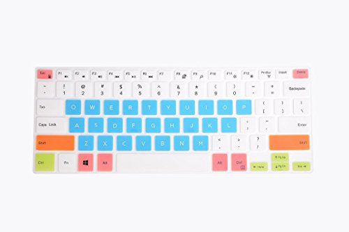 Leze - Ultra Thin Keyboard Cover for 15.6 DELL XPS 15-9570 15-9550 15-9560, Precision 15-5510 M5510 Laptop - White Blue