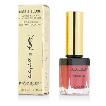 Yves Saint Laurent Baby Doll Kiss and Blush, No. 18 Rose Provocant, 0.33 Ounce