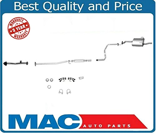 100% New Muffler Exhaust System Fits For Honda Civic 1.6 96-00 2 & 4 Door No EX or - System Exhaust Honda