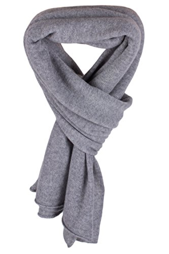 Women's 100% Cashmere Wrap Scarf - Light Gray - hand made in Scotland by Love Cashmere RRP $350 by Love Cashmere