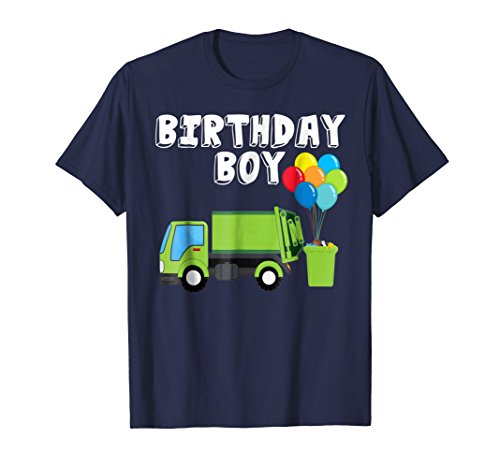 Garbage Truck Birthday Boy Balloons Birthday Party T-Shirt