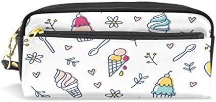 Estuche, pluma bolsa Maquillaje bolsa cartera gran capacidad hielo crema resistente al agua de los estudiantes o mujeres: Amazon.es: Oficina y papelería