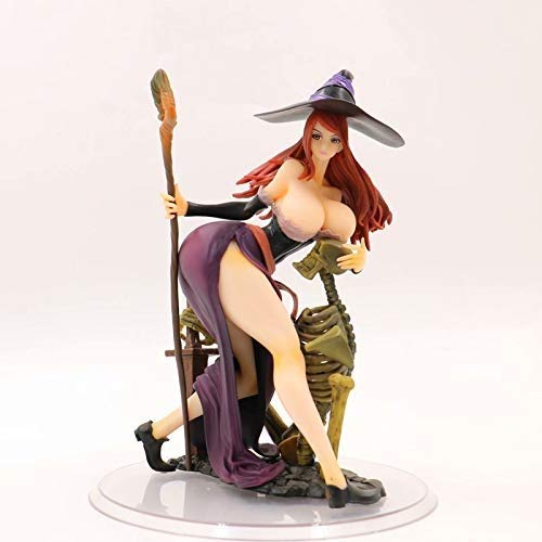 Anime Witch Dress Up (Knmbmg Orchid Seed Dragon's Crown: Sorceress PVC Action Figure 22CM, Anime Sexy Adult Lady Like Woman Witch Dress Up, Otaku' Favorite Computer Desktop Decoration Collection)