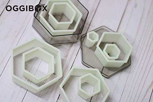 Oggibox 9-Piece Hexagon Nylon Cutter Set (Cookie Cutter Octagon)
