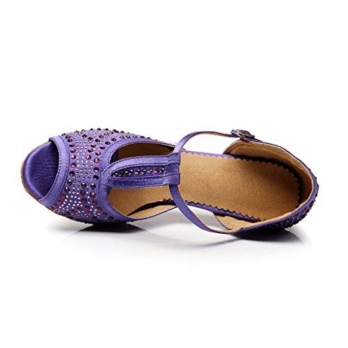 De Misu Danza Morado Para Mujer Zapatillas Negro UU0wr5