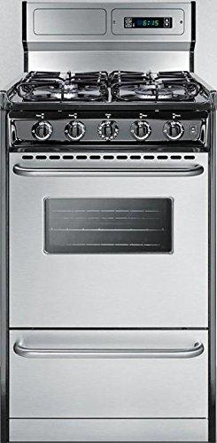 Summit TTM13027BKSW Kitchen Cooking Range, Stainless Steel