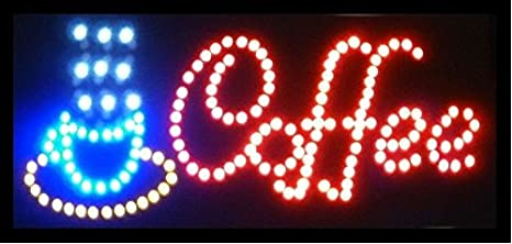 On//Off Switch Bright Light 20X Animated Motion Running LED Business OPEN Sign