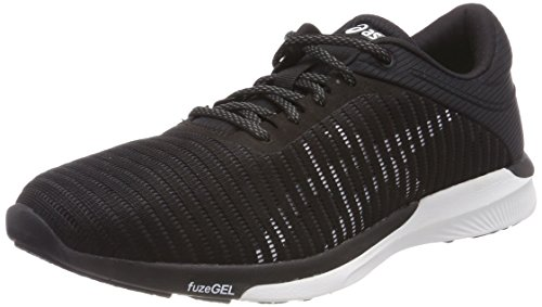 Asics FuzeX Rush Adapt, Scarpe Running Donna Nero (Black/White/Dark Grey 9001)
