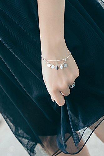 - Generic Korean_style s925_sterling_ silver _circular_flow _maiden_honeymoon_couples_ bracelet bangle women girls _minimalist_furnishings_small_beauty_ students .