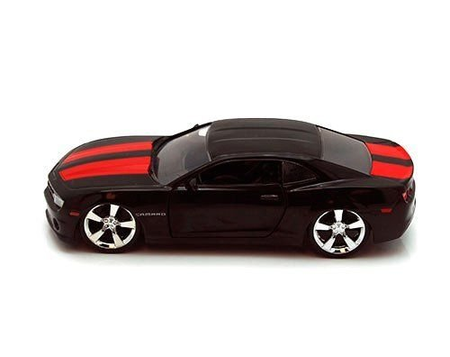 New Model Camaro (New 1:32 DISPLAY BIGTIME MUSCLE - BLACK 2010 CHEVROLET CAMARO SS Diecast Model Car By Jada Toys)