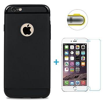 75a09b000de Funda iPhone 6, iPhone 6s Carcasa Silicona Gel Mate + Vidrio Templado  Protector de Pantalla: Amazon.es: Electrónica